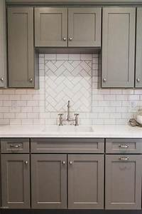 gray shaker kitchen cabinets with white subway tile With what kind of paint to use on kitchen cabinets for wall art 5 piece set