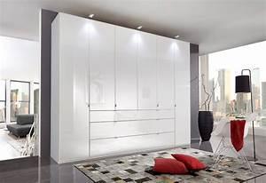 Kleiderschrank Nur Mit Einlegeböden : kleiderschrank mit glasfronten in wei 4 elemente je 2 ~ Michelbontemps.com Haus und Dekorationen