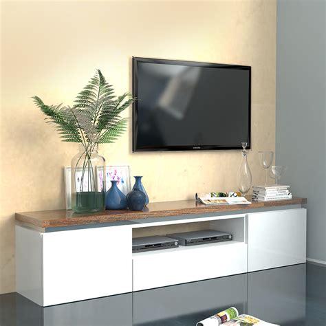 meuble tv blanc et bois meuble tv blanc et bois id 233 es de d 233 coration int 233 rieure decor