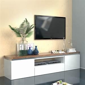 Meuble Tv Blanc Et Bois : meuble tv blanc laqu brillant et couleur bois nemesis meuble tv pinterest meuble tv blanc ~ Teatrodelosmanantiales.com Idées de Décoration