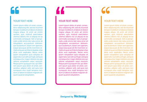 quotation mark text boxes   vector art