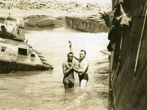 Baptizing On Iwo Jima, 1945