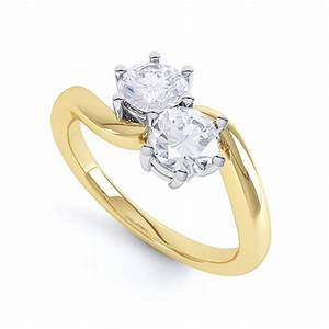 Round 2 stone twist shank ring 2 stone ring for Buy now pay later wedding rings no credit check