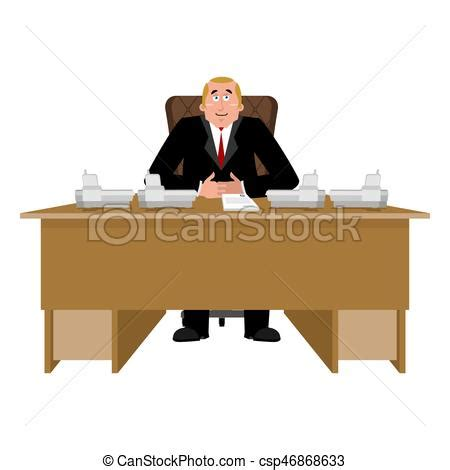 bureau dessin president at desk big at table director in office