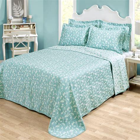 Aqua Coverlet by Amanda Aqua Woven Matelasse Bedspread Bedding