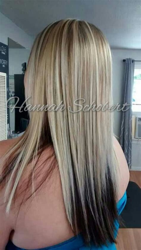 cool bright heavy blonde highlights  dark