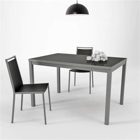 Table De Cuisine En Verre Avec Rallonge  Hauteur 75 Cm