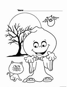 halloween printable color pages - halloween ghost printable coloring pages for kidsfree