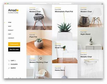Template Templates Website Furniture Interior Ecommerce Websites