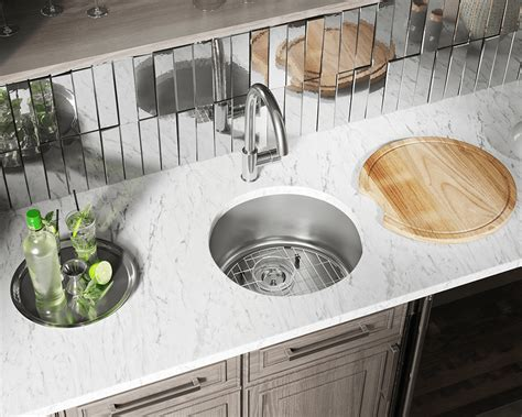 circular stainless steel bar sink