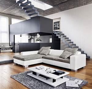 Deco Salon Blanc Et Gris : d co salon gris et blanc ~ Zukunftsfamilie.com Idées de Décoration