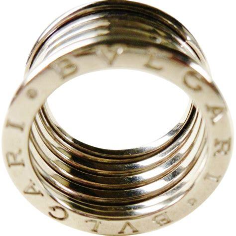 bvlgari bvlgari 18k white gold 4 band ring size vintage bulgari b zero1 18k white gold 5 band ring from