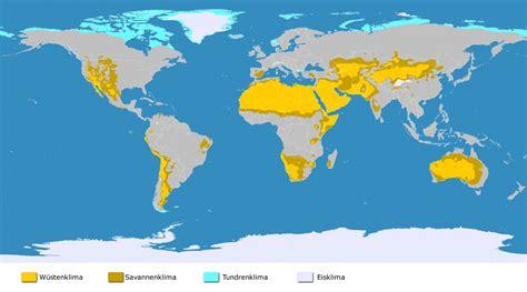 Wüsten Der Erde Karte