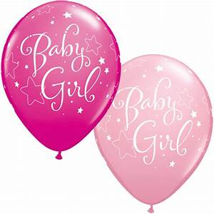 11 inch Assorted Baby Girl Stars Latex Balloons Balloon