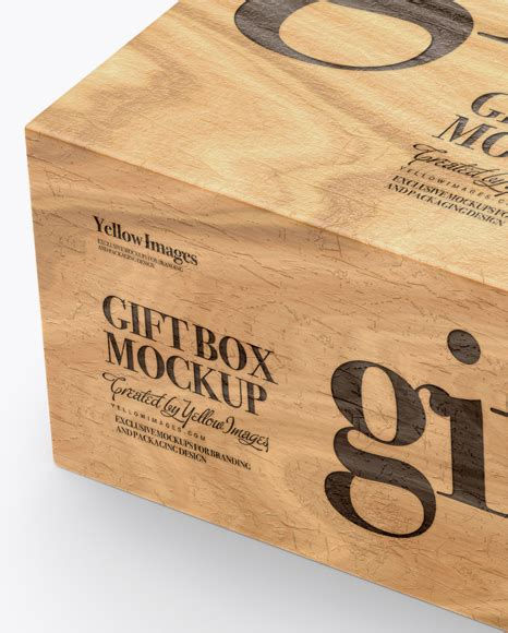 Three open and closed gift box packaging mockup to showcase gift box designs and present them in your portfolio. Opened Wooden Gift Box Mockup - Half Side View in Box ...