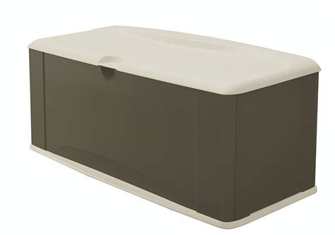 Rubbermaid Deck Box Assembly by Rubbermaid 5e39 Large Deck Box With Seat Sandstone