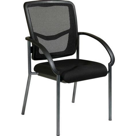 office progrid guest chair with arms titanium