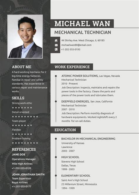 mechanic resume template   word  document