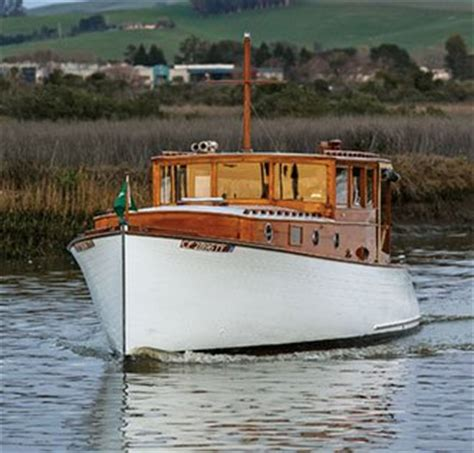 classic wooden motor boat jonni