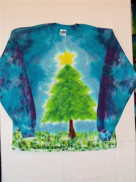 christmas tree tie dye