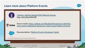 How To Use Salesforce Platform Events To Help With