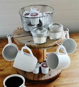 Tasse À Café Avec Support : 1001 id es que faire avec un touret des inspirations r cup ~ Melissatoandfro.com Idées de Décoration
