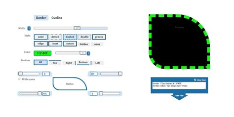 css border  outline generator