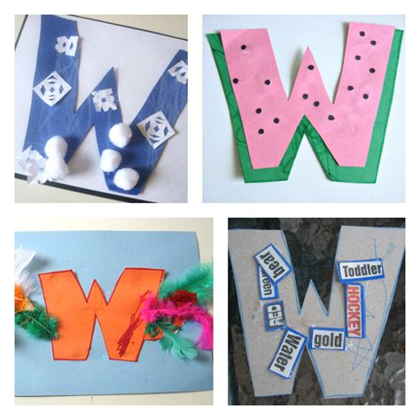 letter w activities letter of the week w crafts and activities no time for