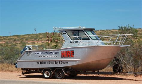 Boat Service Exmouth by Exmouth Boat Hire 7m Hire Boat Exmouth Boat Hire
