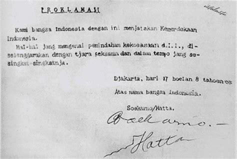 teks proklamasi kemerdekaan indonesia  agustus  kabar besuki