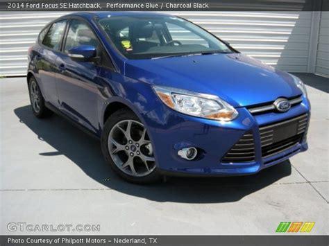 performance blue  ford focus se hatchback charcoal