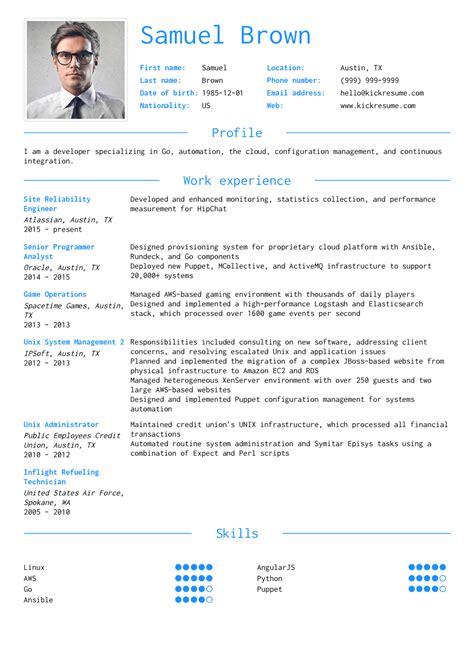 Engineering Resume by Resume Exles By Real It Developer Engineer