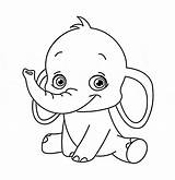 Elephant Coloring Bubakids sketch template