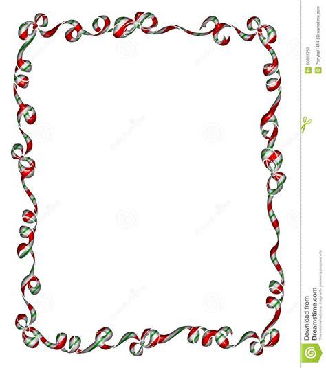 frame  christmas ribbons  bows stock illustration