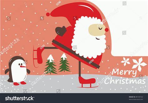 Santa Claus Card By Benchart Vectors Eps Vector Card With A Santa Claus Doing
