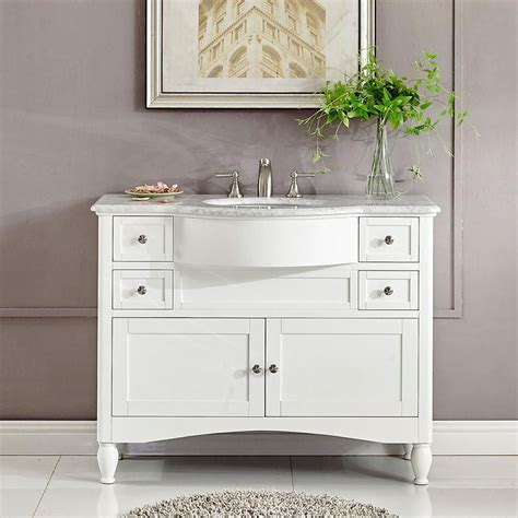 modern single bathroom vanity white