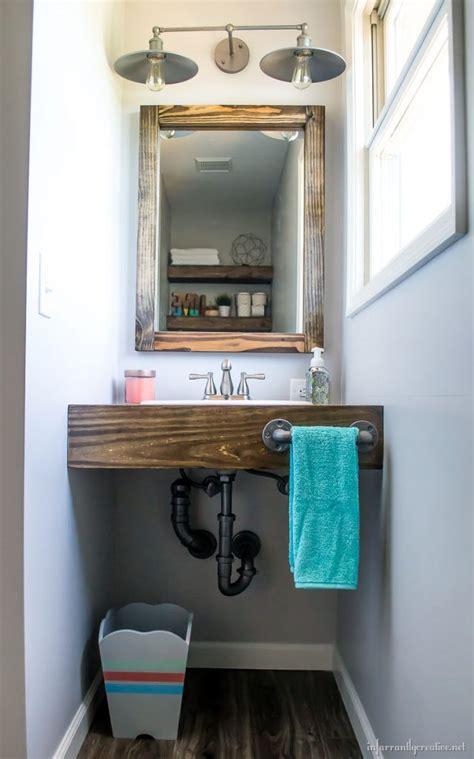 diy floating wood vanity infarrantly creative