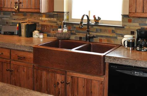 copper farmhouse kitchen sinks farm front kitchen sinks mountain copper creations