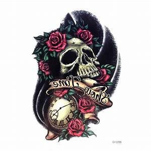 Tete De Mort Fleur : tatouage tete de mort rose ~ Mglfilm.com Idées de Décoration