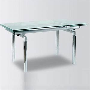 Metal and glass contemporary dining table yonkers new york for Metal glass dining table