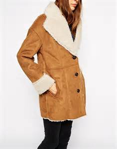 Vintage Faux Fur Shearling Coat In