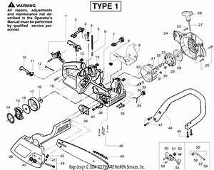 Poulan 2050le Gas Saw Type 1  Pioneer 2050le Type 1 Parts