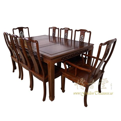 antique rosewood dining table w 8 chairs set