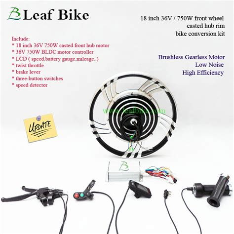 18 inch 36v 750w front hub motor electric bike conversion kit