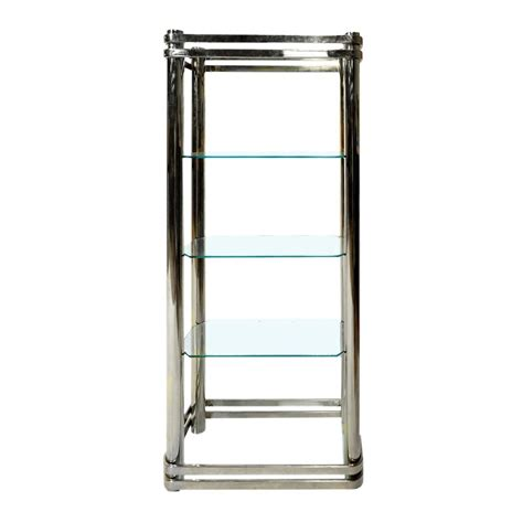 Chrome And Glass Etagere by Chrome And Glass Etagere By Pace Collection For Sale At