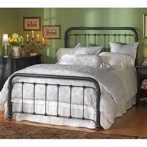braden iron bed by wesley allen black suede finish