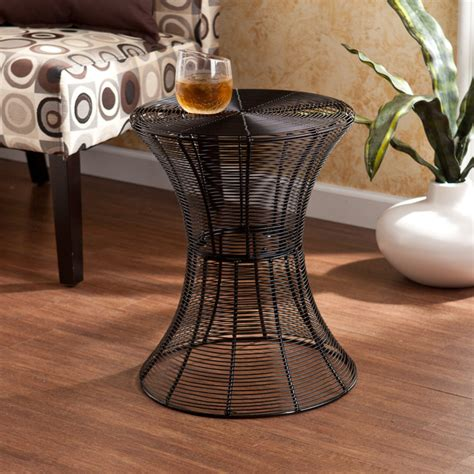 upton home indoor outdoor black metal accent table