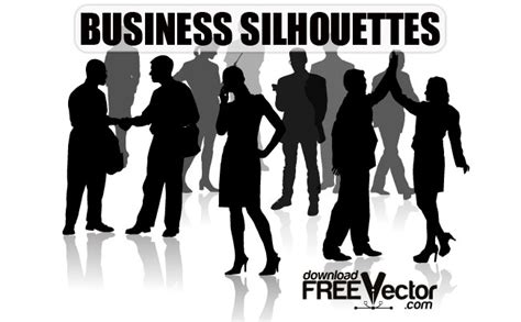 business silhouette people  vector art