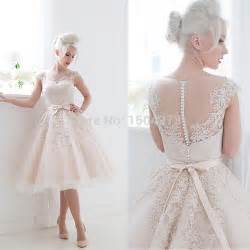 vestido de novia wedding dress vintage 2015 wedding dresses blush pink tea length vestido de novia curtos appliques sheer