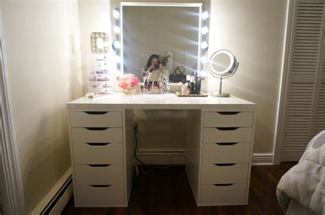vanity table with lighted mirror ikea ikea makeup mirror with lights makeup vidalondon